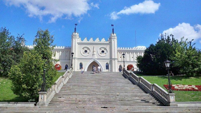 Schody do zamku w Lublinie