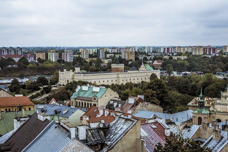 Widok na zabudowę Lublina