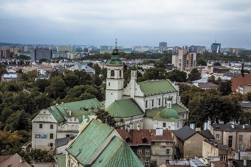 Widok na Kościół w Lublinie
