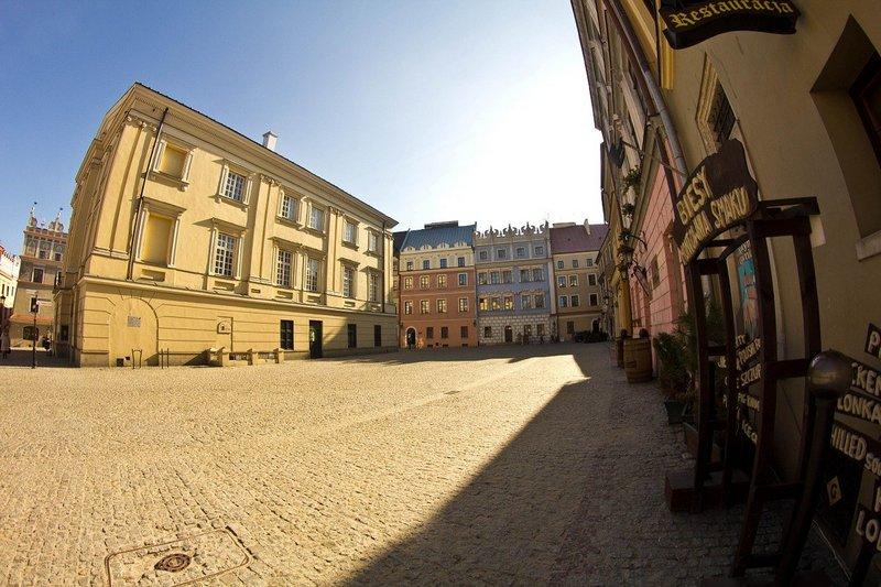 Kamienice w centrum Lublina