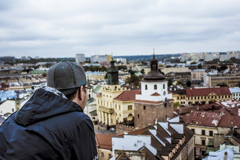 Widok na panoramę Lublina
